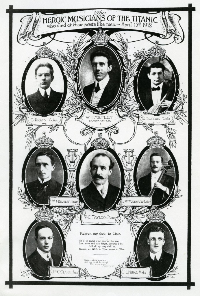 Heroic musicians of the Titanic poster
