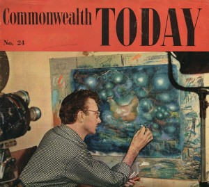 The filmmaker Norman McLaren at work. 2014 will see a major celebration of his life and films in Scotland.