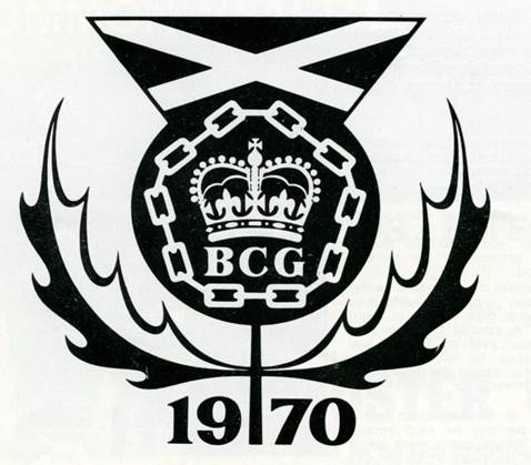The acceptable face of Commercialism in 1970 this crest was used for badges that were sold at the games