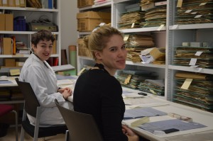 Kat and Erika in the conservation room