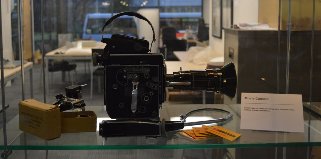 Camera featured in John Grierson display.