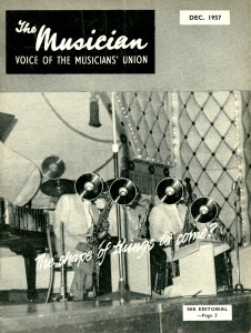 Cover of issue 22 of The Musician, December 1957