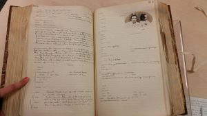 Female case book containing detailed notes on patients admitted to the asylum.