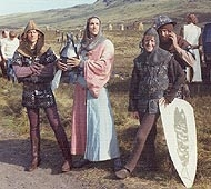 Student extras on location with Monty Python and the Holy Grail