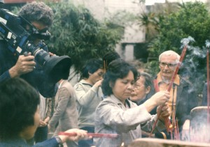 Lindsay Anderson on location in China.