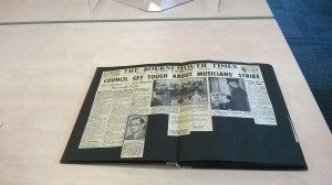 Day by Day scrap book of the Bournemouth strike
