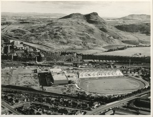 Meadowbank Stadium under construction