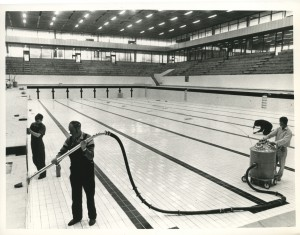 Royal Commonwealth Pool being finished for the upcoming Games