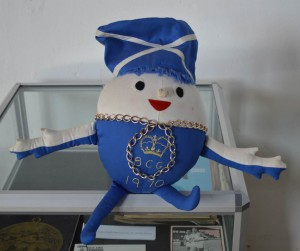 The Edinburgh 1970 mascot which joined our touring exhibition in Irvine!