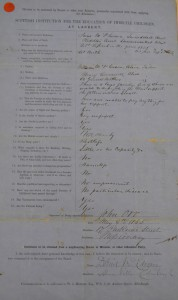 The first application, 1865