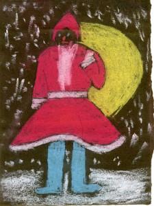 Santa as drawn by 6 year old Albert in 1930
