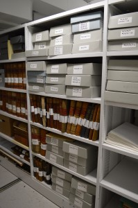 The catalogued collection in the Archives Store