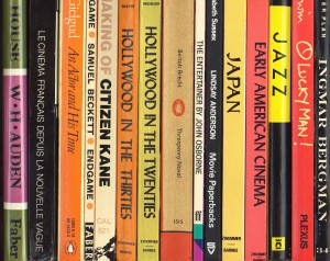 A selection of titles from Lindsay Anderson's book collection.