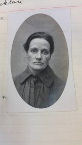 Photograph of female patient taken on admission to Stirling District Asylum.
